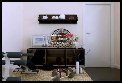 现代客厅3D模型库58