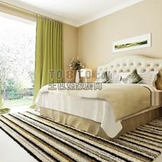 欧式低纯度色调卧室3d模型下载