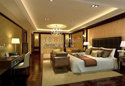 卧室3D模型下载11