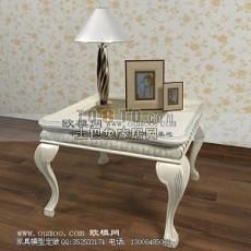 欧式茶几-欧式3d模型下载