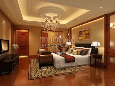 欧式风格卧室3D模型70