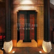 古建筑门3d模型下载