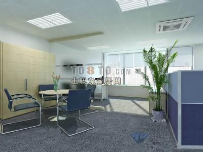 办公室3D模型下载22