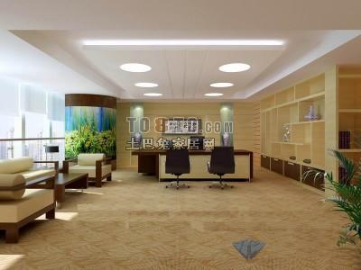 办公室3D模型下载21