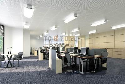 办公室3D模型下载18