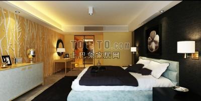 欧式风格卧室3D模型60