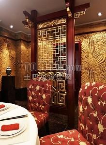 中式餐厅隔断53d模型下载