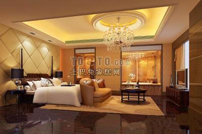 欧式风格卧室3D模型54