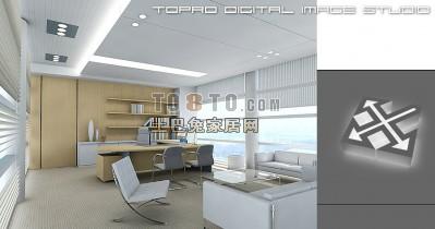 办公室3D模型下载14
