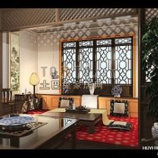 古典中式客厅3d模型下载