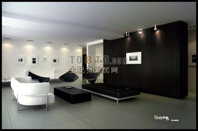 客厅整套3D模型