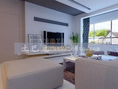 现代风格整套客厅模型