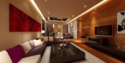 客厅整套3d模型下载