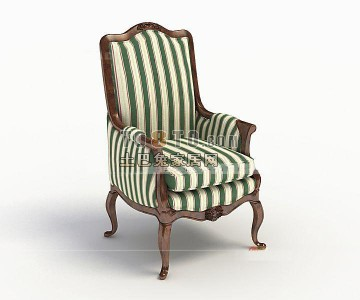 最炫欧式单人沙发3d模型下载