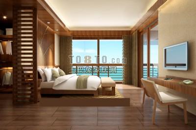 古典中式卧室3D模型