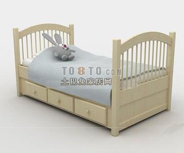 可爱的单人儿童床