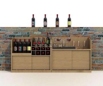 现代风格酒柜