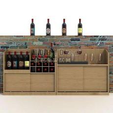 现代风格酒柜3d模型下载
