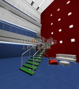 室内客厅3D模型下载45