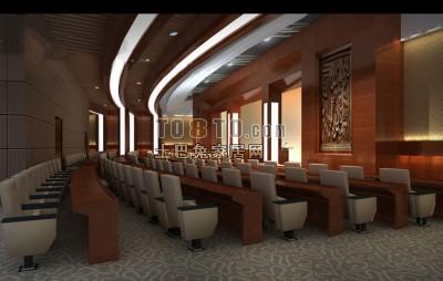 会议大厅3D模型下载4