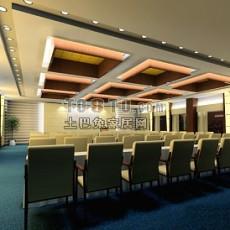 会议厅3d模型下载