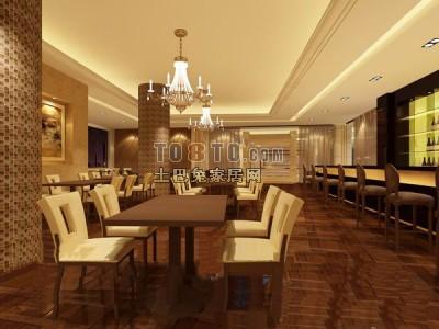 餐厅3D模型下载13