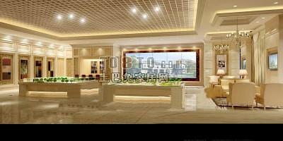 售楼中心展柜3d模型下载