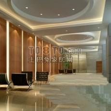 现代酒店大厅23d模型下载