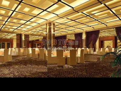 餐厅3D模型下载3