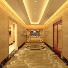 欧式酒店23d模型下载