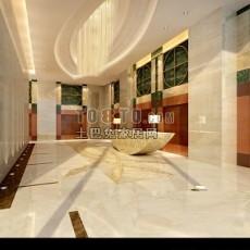 酒店装修3d模型下载