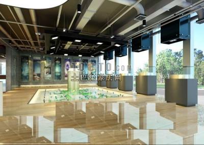 售楼展厅模型3D模型