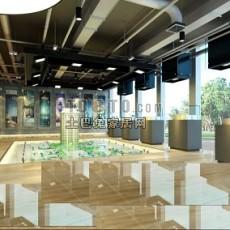 售楼展厅3d模型下载