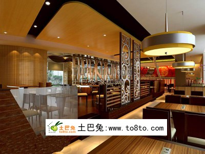 3d餐厅模型免费下载