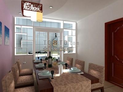 餐桌酒架3d模型下载