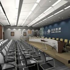 联通企业展厅设计3d模型下载