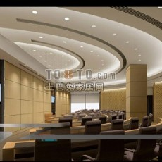 弧形企业展厅设计3d模型下载