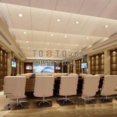 企业会议展厅设计3d模型下载