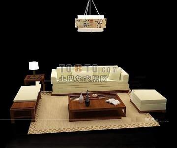 现代沙发3D模型下载25