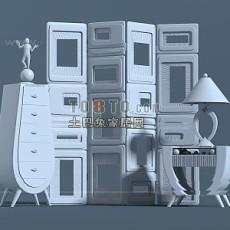 隔断3d模型下载