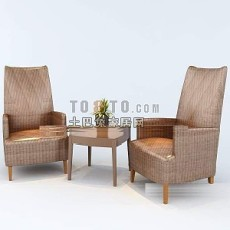现代单人左右沙发3d模型下载