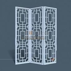 中式隔断3d模型下载
