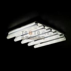 超节能的led格栅灯3d模型下载