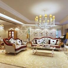 经典欧式客厅3d模型下载