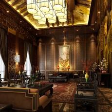 中式餐厅大堂3d模型下载