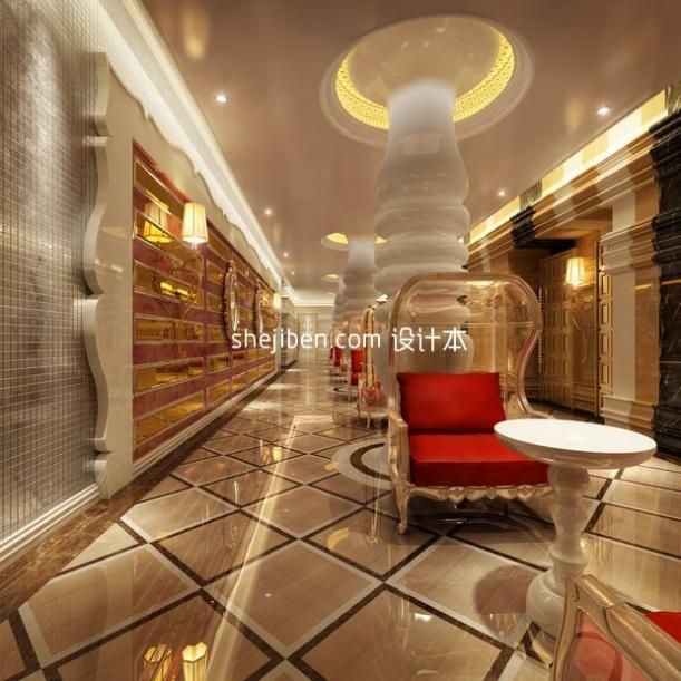 走廊3d模型免费下载