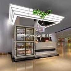 果留仙小型展厅3d模型下载