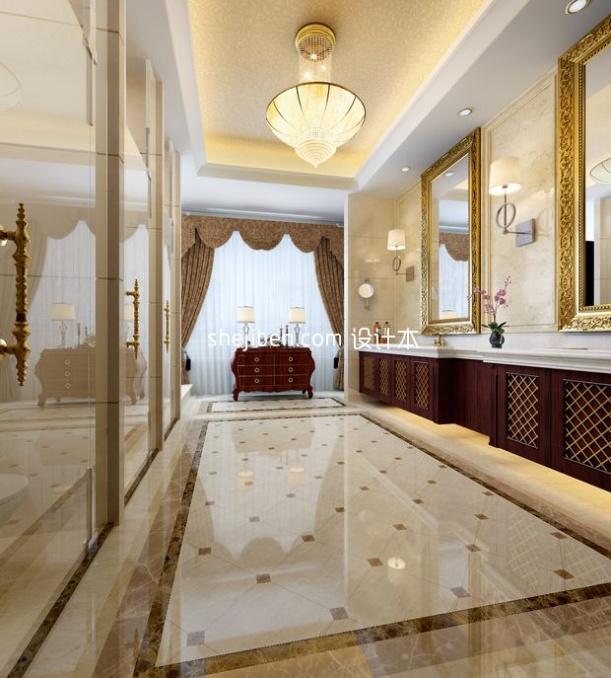总统套房卫生间3d模型