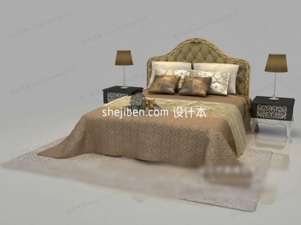 双人床3d模型免费下载