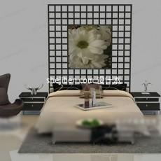 双人床免费网3d模型下载